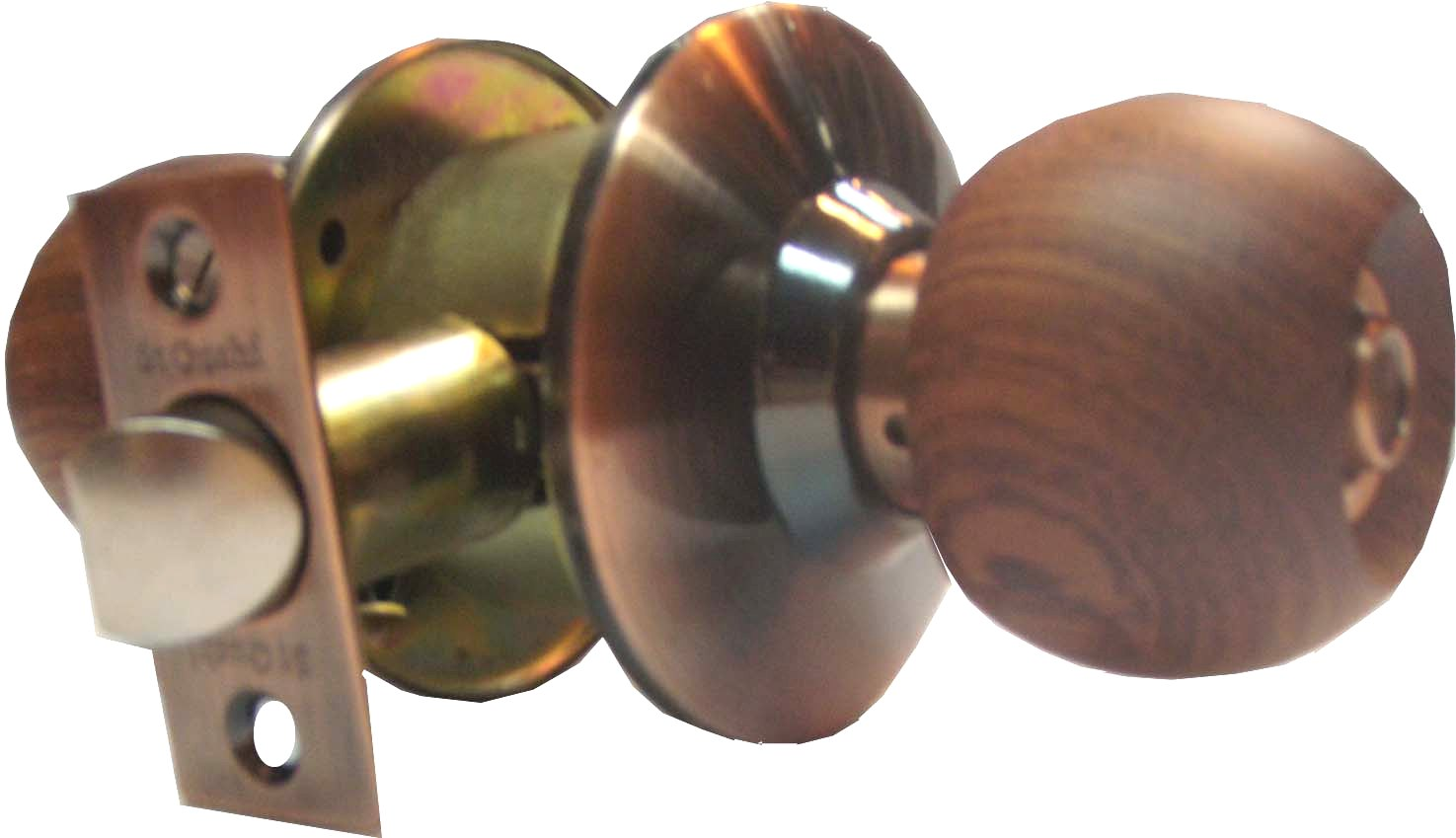 C3100 ST GUCHI WOODEN KNOB ENTRANCE CYLINDRICAL LOCK