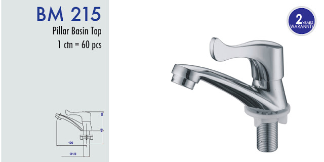 BM222 LONG HANDLE BASIN TAP