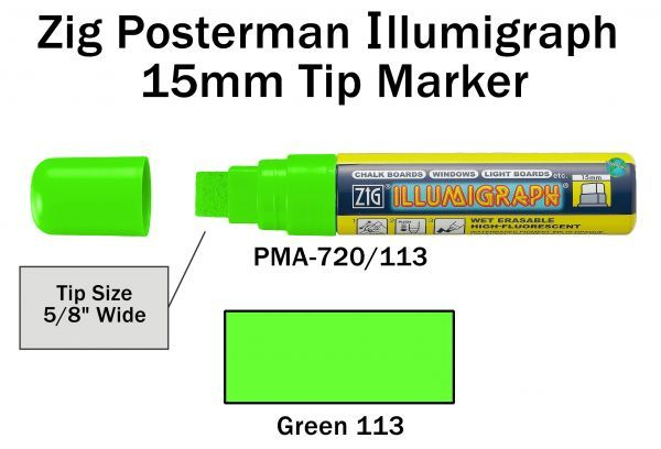 PMA-720 15MM ILLUMIGRAPH (FLUOR. GREEN)
