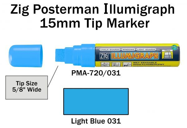 PMA-720 15MM ILLUMIGRAPH (FLUOR. LIGHT BLUE)