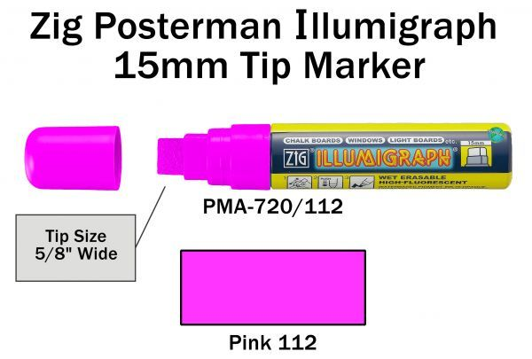 PMA-720 15MM ILLUMIGRAPH (FLUOR. PINK)