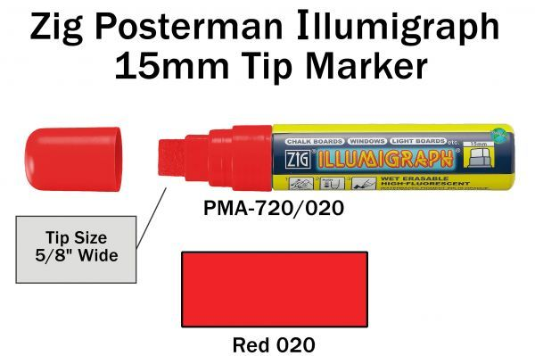 PMA-720 15MM ILLUMIGRAPH (FLUOR. RED)
