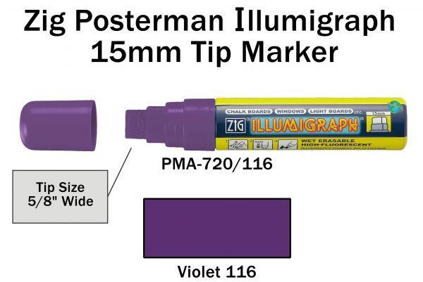 PMA-720 15MM ILLUMIGRAPH (FLUOR. VIOLET)