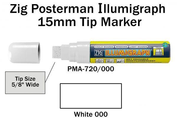 PMA-720 15MM ILLUMIGRAPH (FLUOR. WHITE)