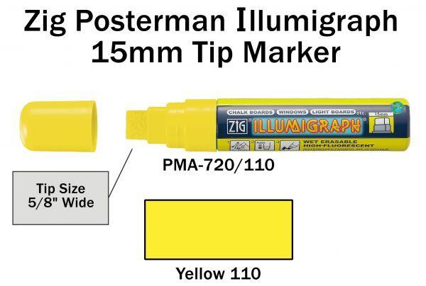 PMA-720 15MM ILLUMIGRAPH (FLUOR. YELLOW)