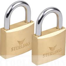 38MM*2PCS GERE KEY ALIKE BRASS PADLOCK