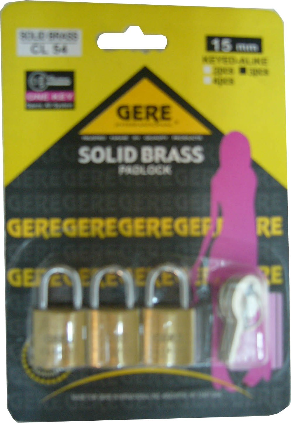 15MM*3PCS CL54152 GERE LUGGAGE LOCK