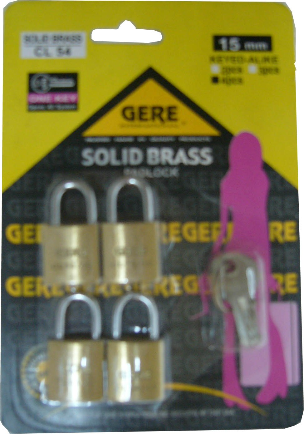 15MM*4PCS CL54152 GERE LUGGAGE LOCK