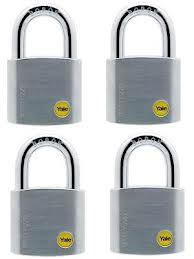 Y120/50/127*4PCS CHROME BORON SHAKLE PADLOCK